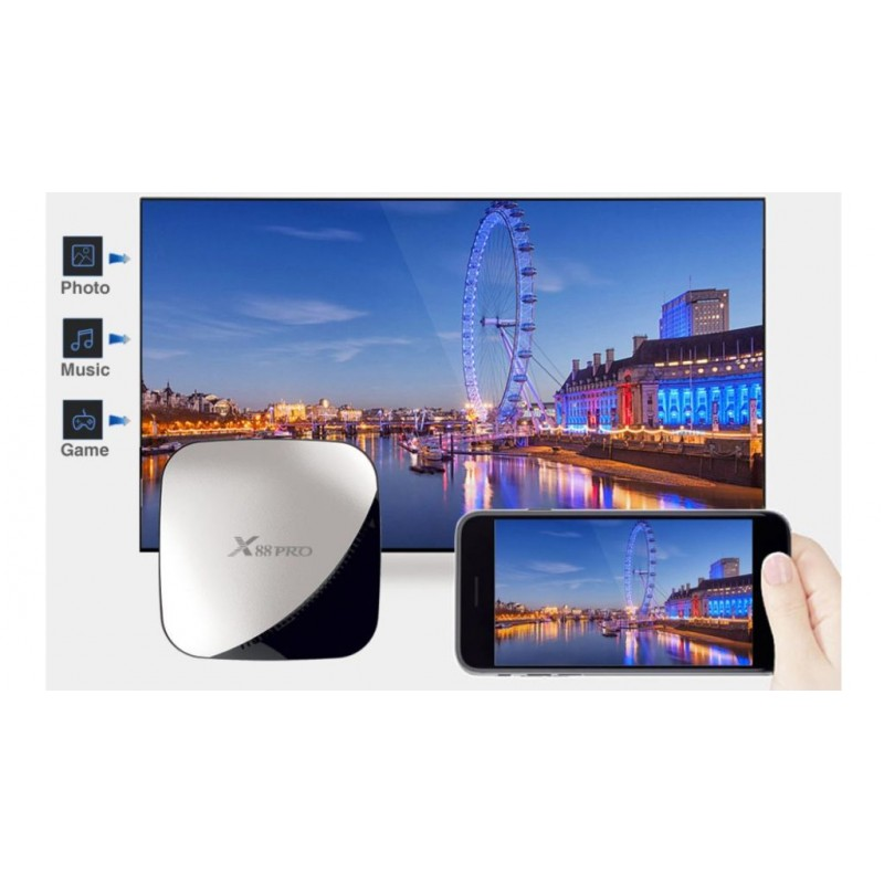 Smart TV Box X88 Pro ANDROID 9.0