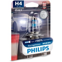 Автомобилни крушки H4 PHILIPS 12V 60/55W RacerVision+150%