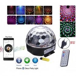 RGB Лампа, 6 диода, 5W, цифров дисплей, Bluetooth