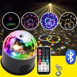 LED парти лампа проектор с дистанционно 9W , Bluetooth