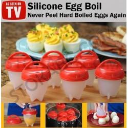 6бр. Силиконови форми за варене на яйца тип чашки
